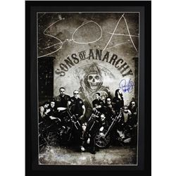 "Ryan Hurst Signed ""Sons of Anarchy"" 42x49 Custom Framed Poster Display Inscribed ""Opie"" (Radtke COA)"