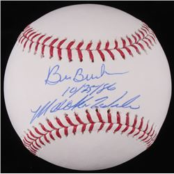 "Bill Buckner  Mookie Wilson Signed OML Baseball Inscribed ""10/25/86"" (JSA COA)"