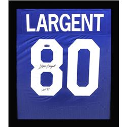 "Steve Largent Signed Seahawks 23x27 Custom Framed Jersey Inscribed ""HOF '95"" (Radtke COA)"