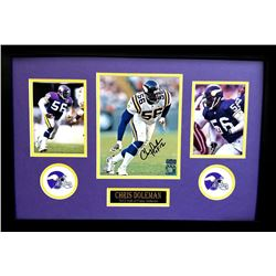 "Chris Doleman Signed Vikings 16x26 Custom Framed Photo Display Inscribed ""HOF 12"" (Radtke COA)"