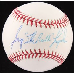 "Greg ""The Bull"" Luzinski Signed OML Baseball (Fanatics Hologram  MLB Hologram)"