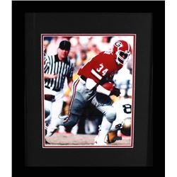 "Herschel Walker Signed Gerogia Bulldogs 19x23 Custom Framed Photo Display Inscribed ""80 Heisman"" (Ra"