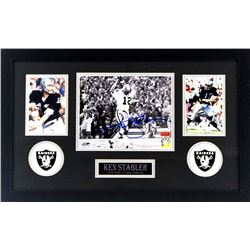 Ken Stabler Signed Raiders 16x26 Custom Framed Photo Display (Radtke COA  Stabler Hologram)