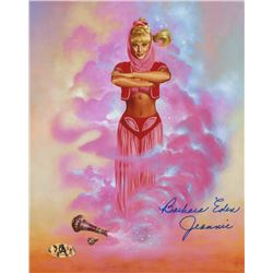 "Barbara Eden Signed ""I Dream of Jeannie"" 8x10 Photo Inscribed ""Jeannie"" (MAB Hologram)"