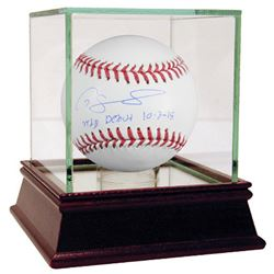 "Gary Sanchez Signed Baseball Inscribed ""MLB Debut 10-3-15"" (Steiner COA  MLB)"