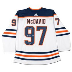 "Connor McDavid Signed LE Oilers Jersey Inscribed ""#1 Pick 2015"" (UDA COA)"