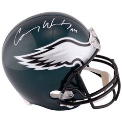 "Carson Wentz Signed Eagles Full-Size Helmet Inscribed ""A01"" (Fanatics)"