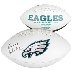 "Carson Wentz Signed Eagles Logo Football Inscribed ""AO1"" (Fanatics)"