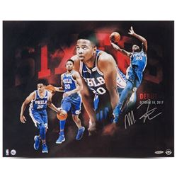 "Markelle Fultz Signed ""Opening Night"" 76ers 16x20 Photo (UDA Hologram)"
