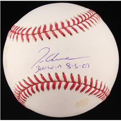 "Tom Glavine Signed OML Baseball Inscribed ""300 Win 8-5-07"" (MLB Hologram  Fanatics Hologram)"