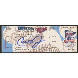 Cal Ripken Jr. Signed Orioles vs. Twins Unused Ticket (FSC COA)