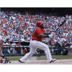 Prince Fielder Signed Rangers 16x20 Photo (MLB Hologram, Fanatics Hologram)