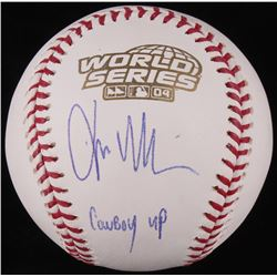 "Kevin Millar Signed Official 2004 World Series Baseball Inscribed ""Cowboy Up"" (JSA COA)"