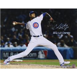 """George Springer Signed """"Sports Illustrated"""" 16x20 Photo Inscribed """"2016 WS Champs"""" (MLB Hologram  Fa"""