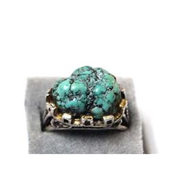 Vintage Sterling Silver & Sea Foam Turquoise Ring