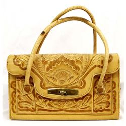 Like New, Mexican Hand Tooled Leather Purse