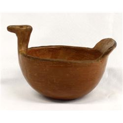 Antique Maricopa Pottery Bird Effigy Bowl
