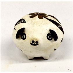 Native American Acoma Pottery Pig by R. Chavez