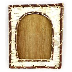 Native American Iroquois Birch Bark Picture Frame