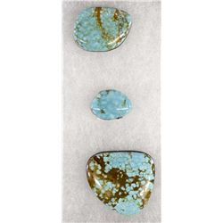 Three #8 Mine Turquoise Cabochons
