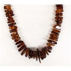 Genuine Amber Bead Necklace