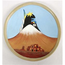 Hopi Pottery Plate by Gertrude Adams, 1st Mesa