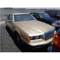 FORD THUNDERBIRD 1986 T-DONATION