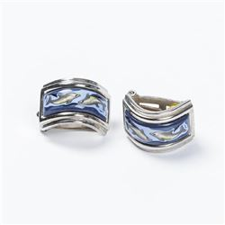 HERMES Dolphin Clip Earrings