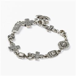 CHANEL Cambon Cross Bracelet