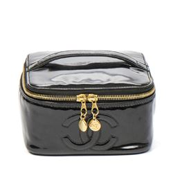 CHANEL Vintage Cosmetic Case Front Logo