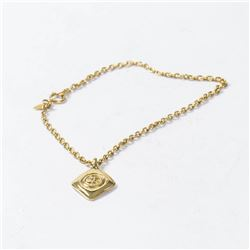 CHANEL Diamond-shaped small CC Logo Chain Necklace