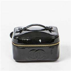 CHANEL Rectangular Cosmetic Case Front Logo