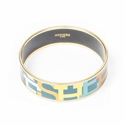 HERMES Enamel Bangle GM