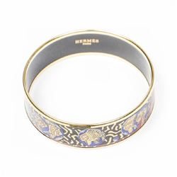 HERMES Enamel Bangle MM