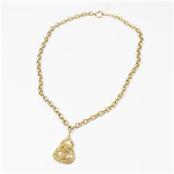 CHANEL Vintage Necklace Rope Motif Logo