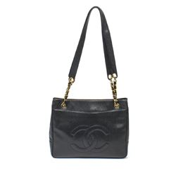 CHANEL Vintage Shoulder Bag Front Logo
