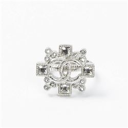CHANEL Intertwined Logo and Cross Ring