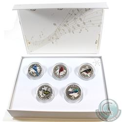 2015 Canada $10 Colourful Songbirds 5-Coin Fine Silver Set in Deluxe Display Case (TAX Exempt)