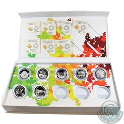 2014 O Canada $10 Fine Silver Set with Deluxe Box. This Set includes 7 out of 10 of the Coins - the