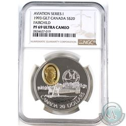 1993 Canada $20 Aviation - Fairchild NGC Certified PF-69 Ultra Cameo