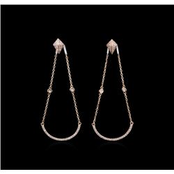 0.69 ctw Diamond Earrings - 14KT Rose Gold