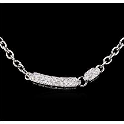 1.40 ctw Diamond Necklace - 18KT White Gold