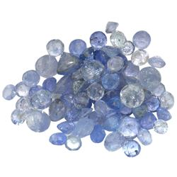 12.3 ctw Round Mixed Tanzanite Parcel