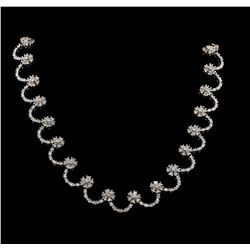 9.02 ctw Diamond Necklace - 14KT White Gold