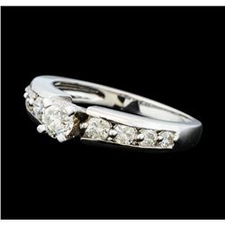 0.50 ctw Diamond Ring - 14KT White Gold