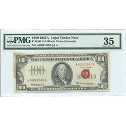 1966A $100 Legal Tender Note PMG Choice Very Fine 35