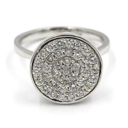 0.75 ctw Diamond Dome Ring - 14KT White Gold