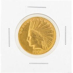 1908D $10 Indian Head Gold Coin (With Motto) C