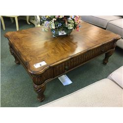 SCHNADIG PORTOFINO 2 DRAWER COCKTAIL COFFEE TABLE & SINGLE DRAWER END TABLE - RETAIL $4400