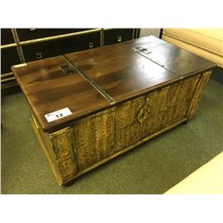 PULASKI TRUNK STYLE WOODEN STORAGE COFFEE TABLE & END TABLE - RETAIL $4,000